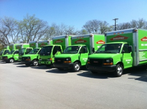 Clean water damage restoration trucks ready to respond to any size disaster!